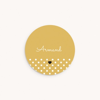Sticker Enveloppe Naissance Hashtag, 4,5 cm personnalisé
