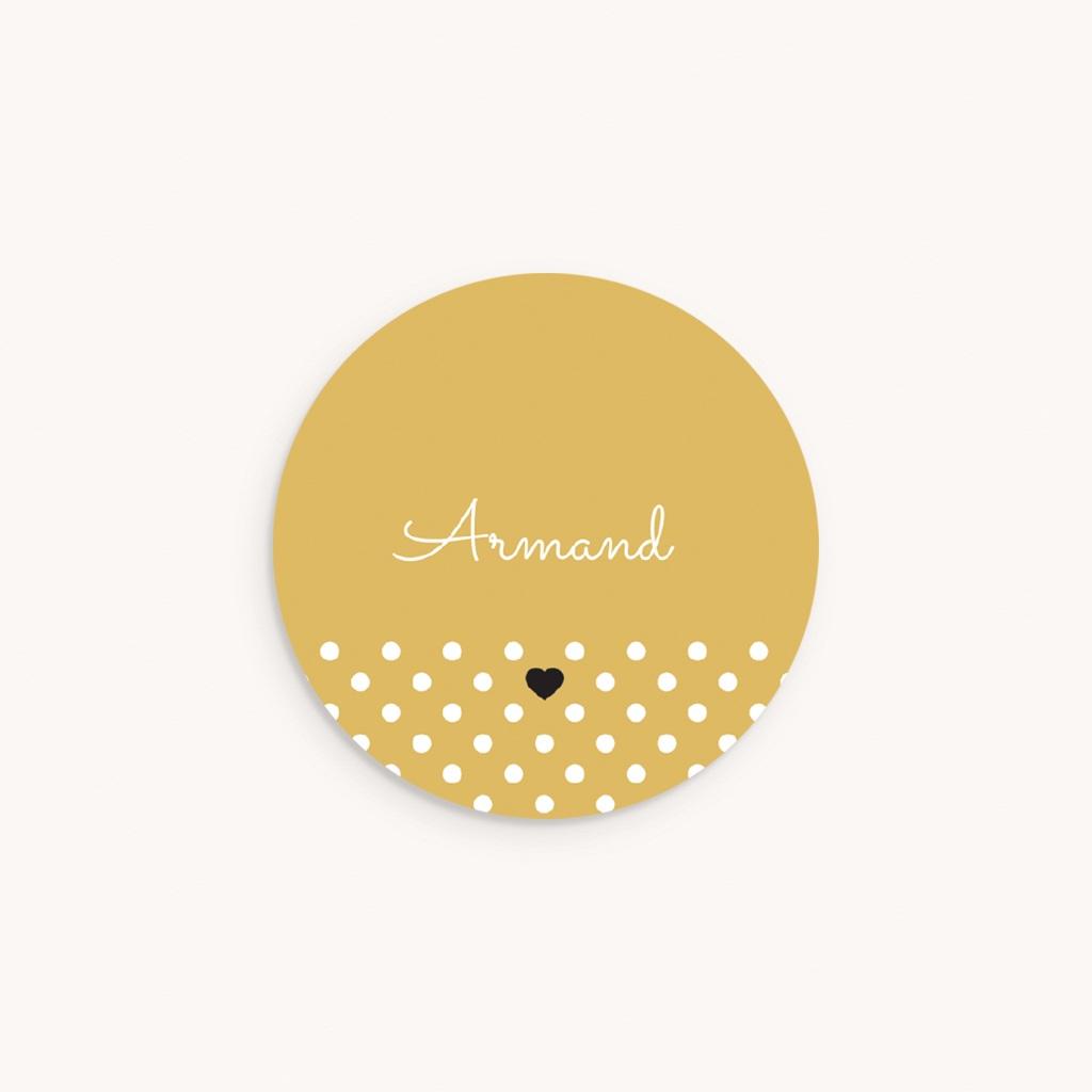 Sticker Enveloppe Naissance Hashtag, 4,5 cm