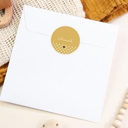 Sticker Enveloppe Naissance Hashtag, 4,5 cm pas cher