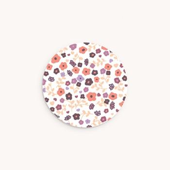 Sticker Enveloppe Naissance Joli Motif fleuri Fille