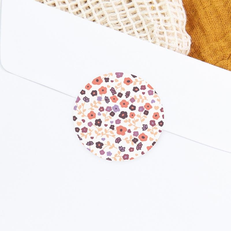 Sticker Enveloppe Naissance Joli Motif fleuri Fille gratuit