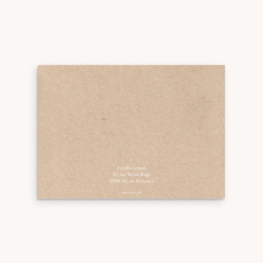Carte de Remerciement Naissance Pastel Kraft fille pas cher