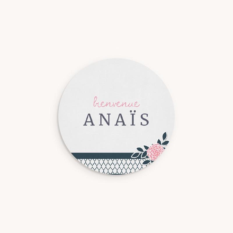 Sticker Enveloppe Naissance Fleuri Chic
