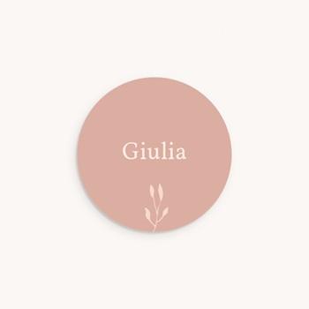 Sticker Enveloppe Naissance Petit Herbier poudré pas cher