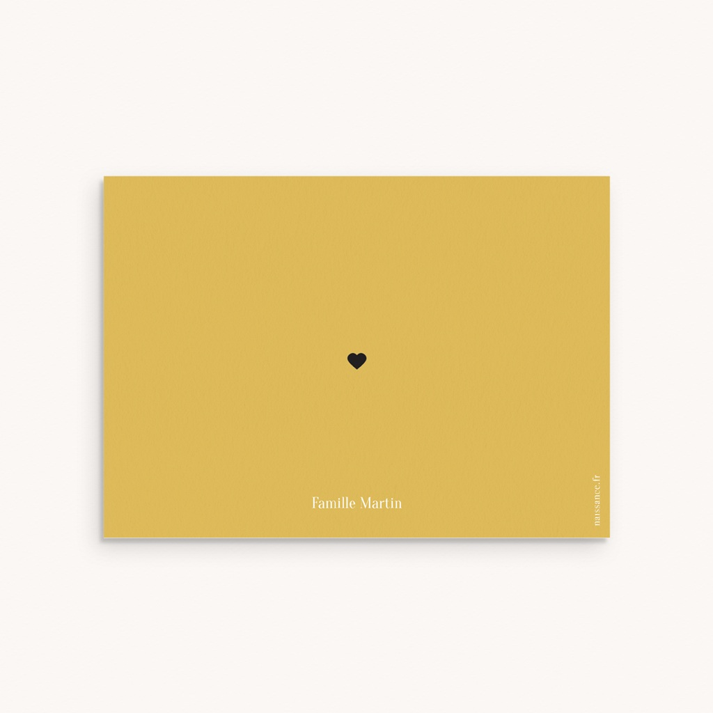 Carte de Remerciement Naissance Hashtag pas cher