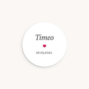 Sticker Enveloppe Naissance Phototographe, Coeur rouge original