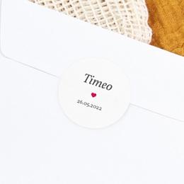 Sticker Enveloppe Naissance Phototographe, Coeur rouge gratuit