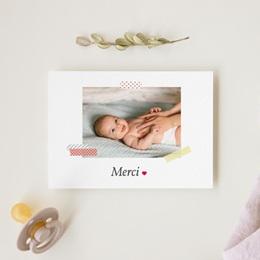 Carte de Remerciement Naissance Photographe gratuit