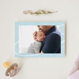 Carte de Remerciement Naissance L'Avion Bleu gratuit