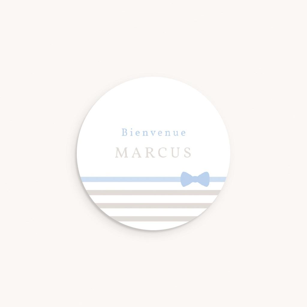 Sticker Enveloppe Naissance Praline Garçon