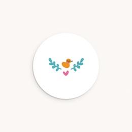 Sticker Enveloppe Naissance Grand frère Canard