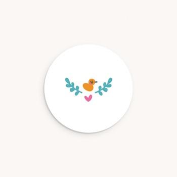 Sticker Enveloppe Naissance Grand frère Canard original