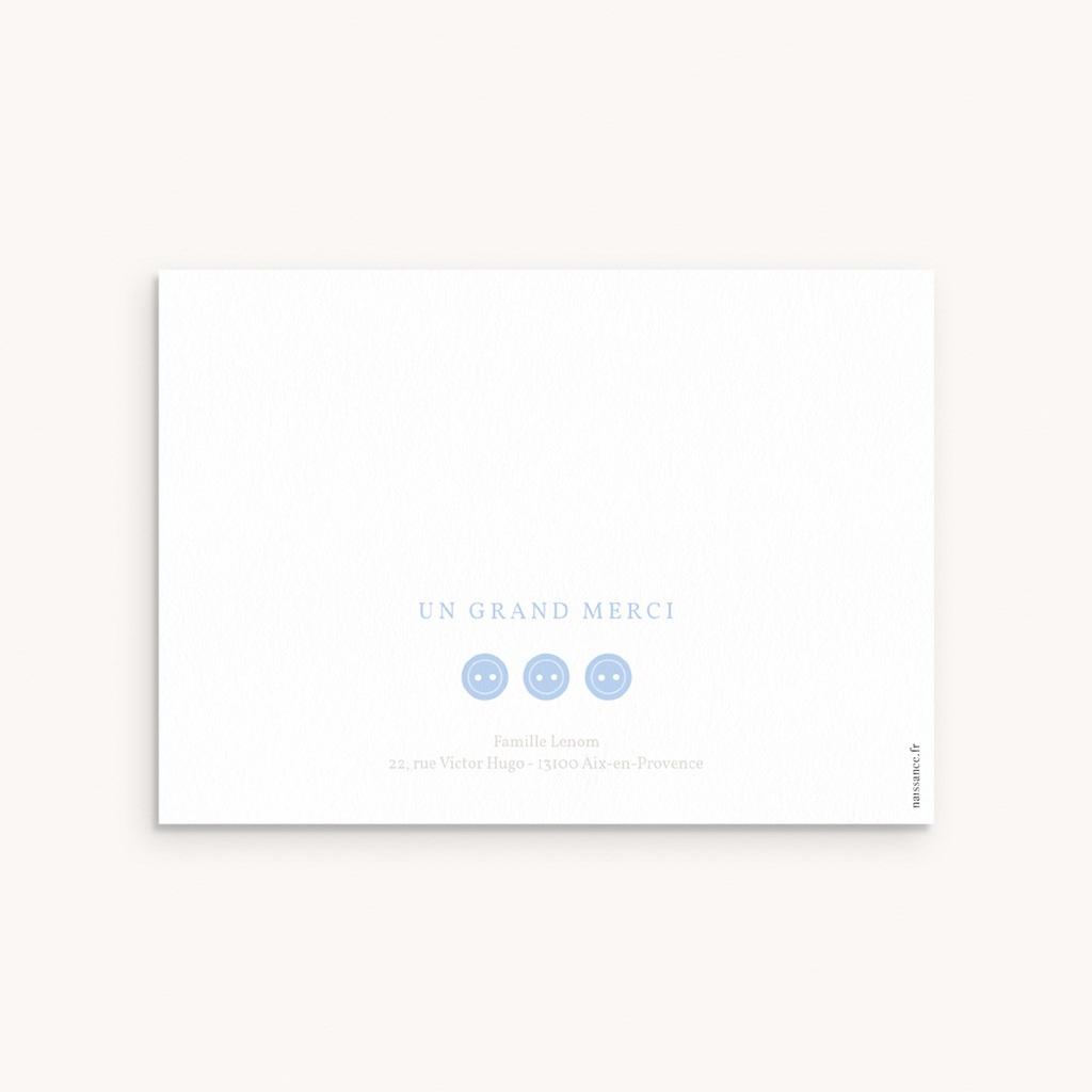 Carte de Remerciement Naissance Praline pas cher