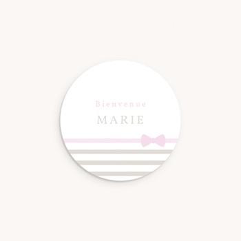 Sticker Enveloppe Naissance Praline Fille personnalisé