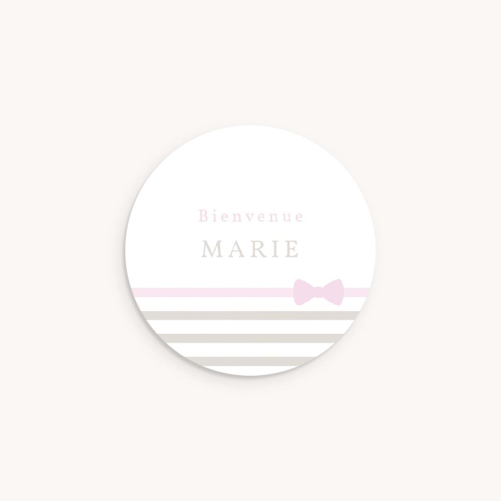 Sticker Enveloppe Naissance Praline Fille