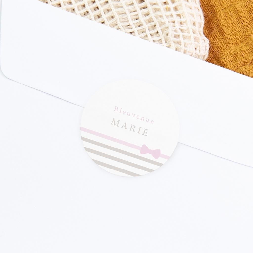 Sticker Enveloppe Naissance Praline Fille gratuit