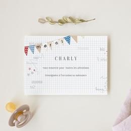 Carte de Remerciement Naissance Petite Voiture gratuit