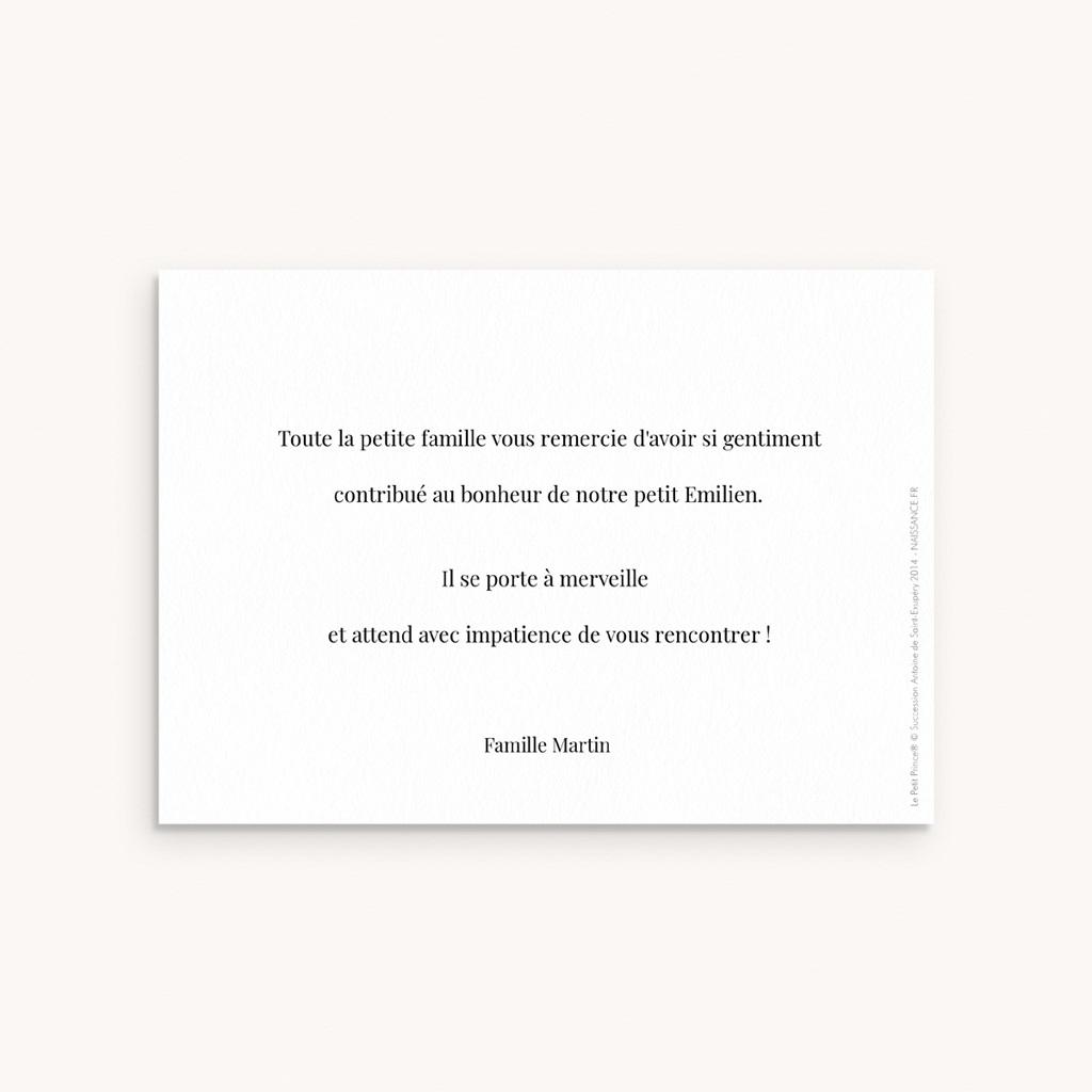 Carte de Remerciement Naissance Le Petit Prince 18 pas cher