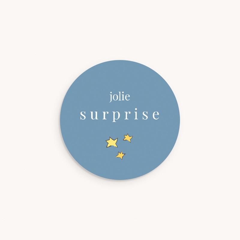 Sticker Enveloppe Naissance Petit Prince 18, étoiles