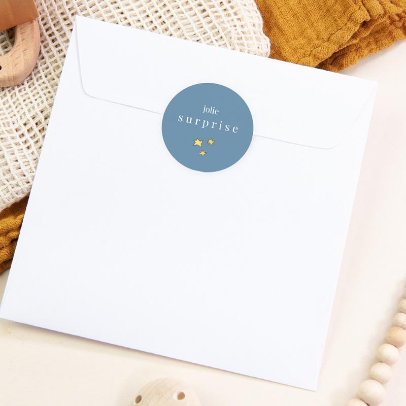 Sticker Enveloppe Naissance Petit Prince 18, étoiles pas cher