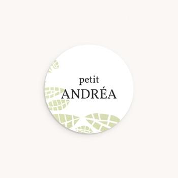 Sticker Enveloppe Naissance Chouette famille, 4,5 cm pas cher
