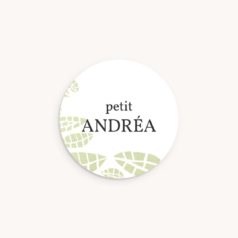 Sticker Enveloppe Naissance Chouette famille, 4,5 cm