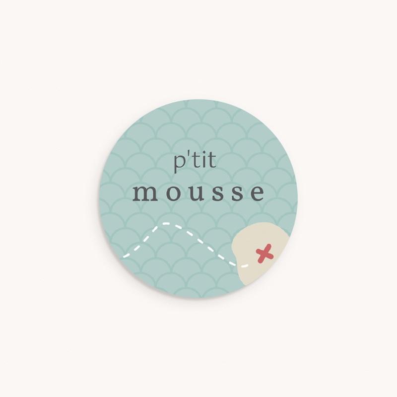 Sticker Enveloppe Naissance A l'abordage, 4,5 cm