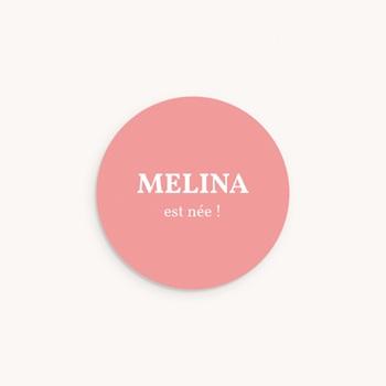 Sticker Enveloppe Naissance Mania Fille, 4,5 cm