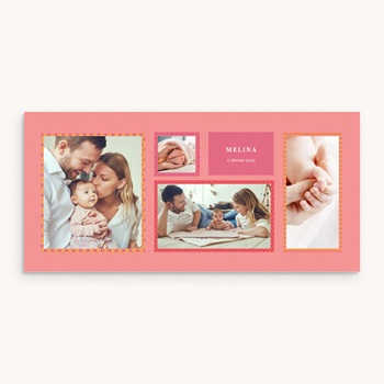 Faire-part de Naissance Photo Mania Fille original