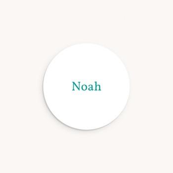 Sticker Enveloppe Naissance Etiquette Garçon, simple personnalisé