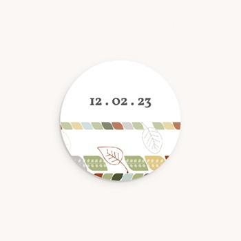 Sticker Enveloppe Naissance Douce nature, date personnalisé