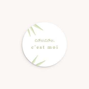 Sticker Enveloppe Naissance Koala, Bambou pas cher