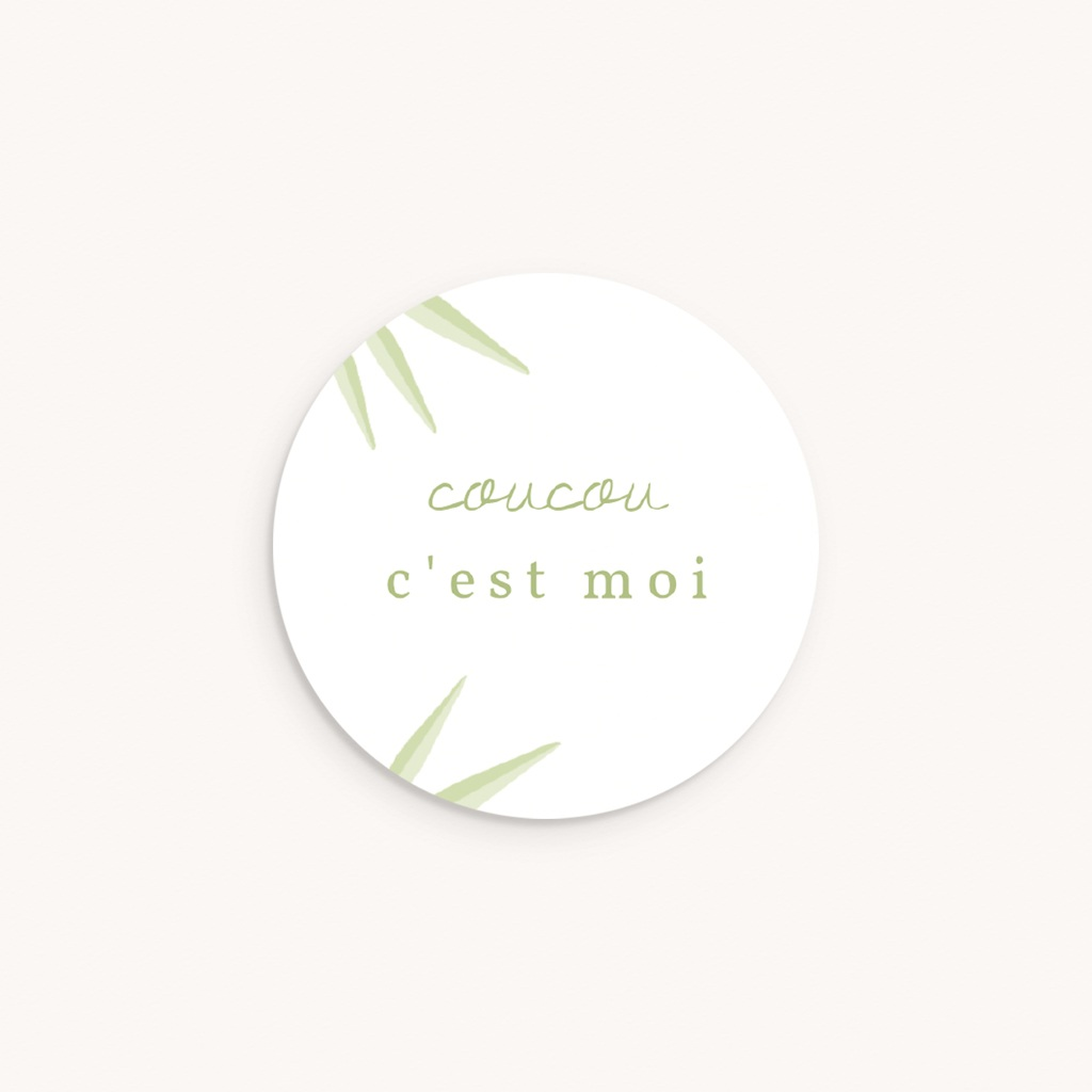 Sticker Enveloppe Naissance Koala, Bambou