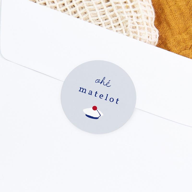 Sticker Enveloppe Naissance Esprit Matelot, 4.5 cm gratuit
