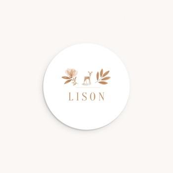 Sticker Enveloppe Naissance Faon des forêts, Prénom