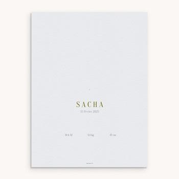 Affiche Déco Chambre Enfant Ourson des bois personnalisé
