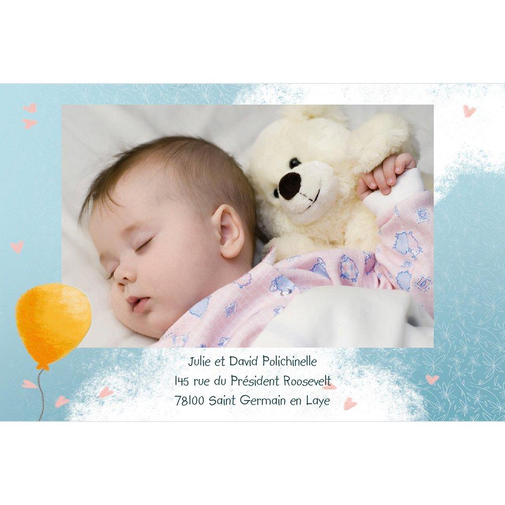Faire-part de Naissance Bienvenue bébé fille