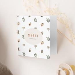 Carte de Remerciement Naissance Oiseau des sous-bois gratuit