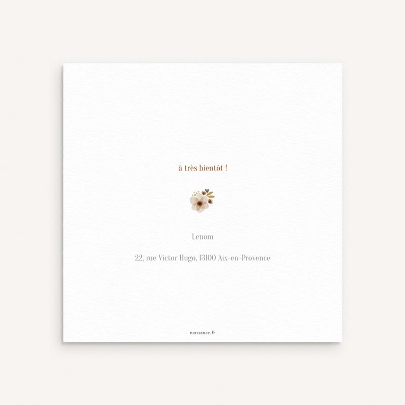 Faire-part de Naissance Oiseau des sous-bois