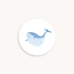 Sticker Enveloppe Naissance Petite Baleine Bleue