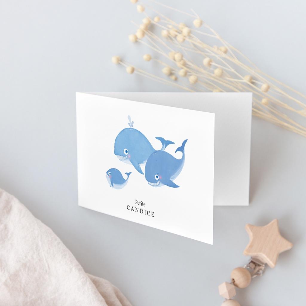 Faire-part de Naissance Les Petites Baleines gratuit