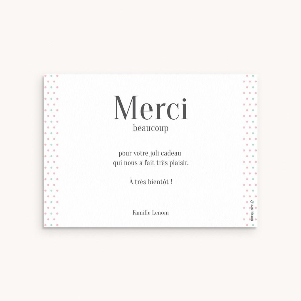 Carte de Remerciement Naissance Petit Mot gourmand pas cher