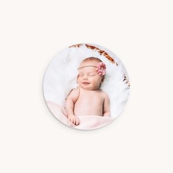 Sticker Enveloppe Naissance Ticket Gagnant Rose, Portrait fille pas cher