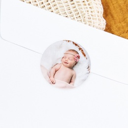 Sticker Enveloppe Naissance Ticket Gagnant Rose, Portrait fille gratuit