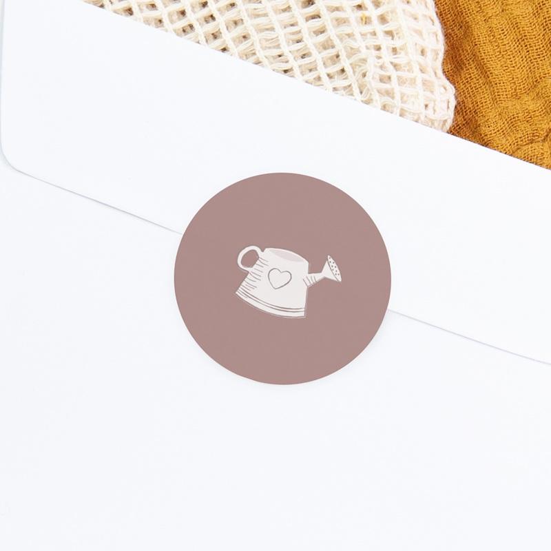Sticker Enveloppe Naissance Elégance Jumelles, arrosoir, rose poudré gratuit