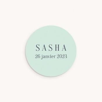 Sticker Enveloppe Naissance Petit indien, vert d'eau pas cher