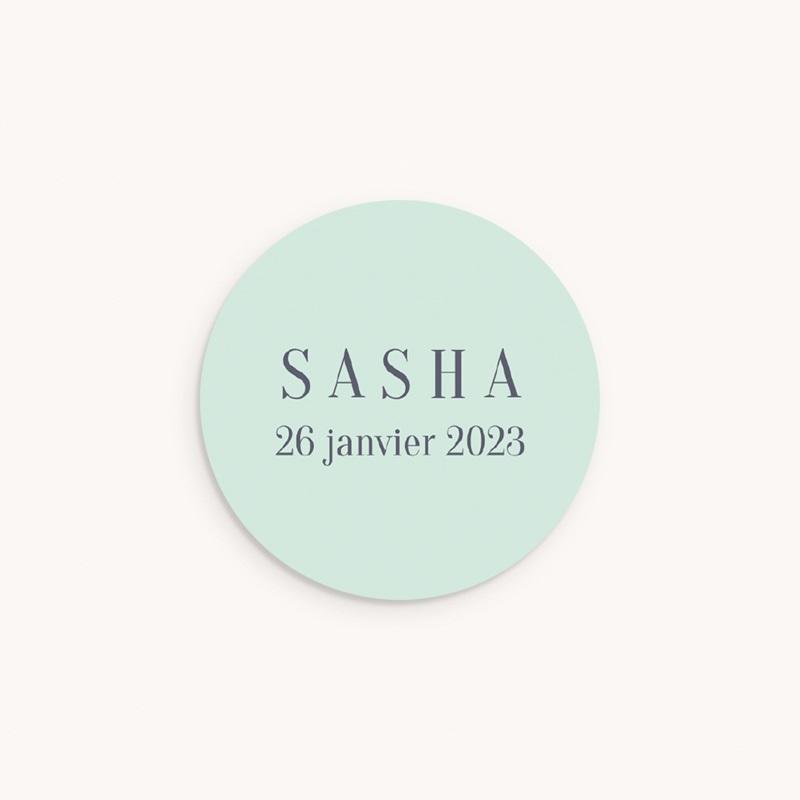 Sticker Enveloppe Naissance Petit indien, vert d'eau