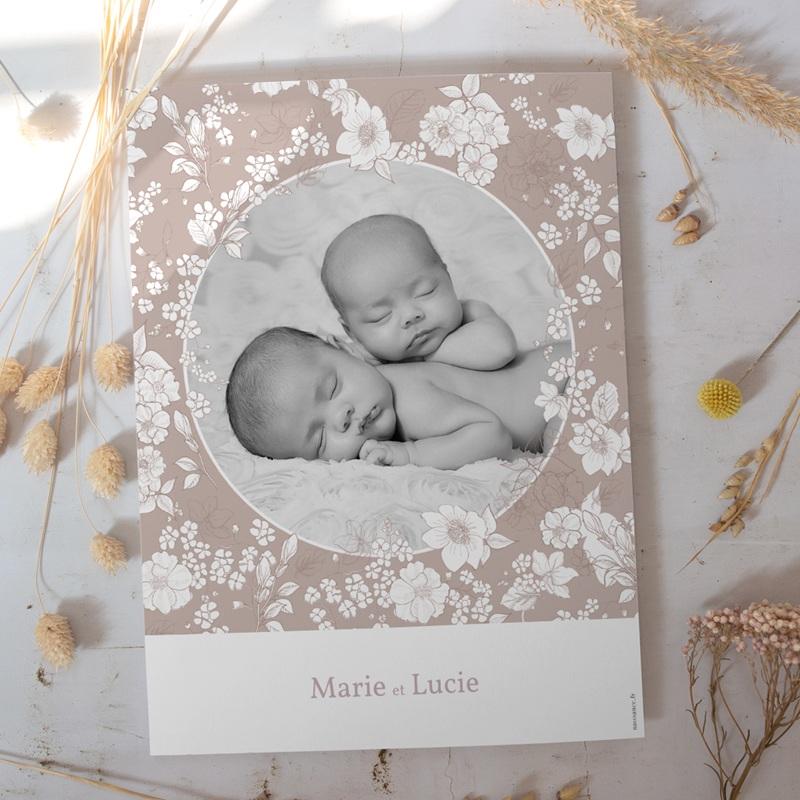 Affiche Déco Chambre Enfant Elégance Jumelles, portrait gratuit