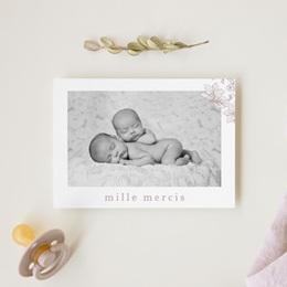 Carte de Remerciement Naissance Élegance jumelles gratuit
