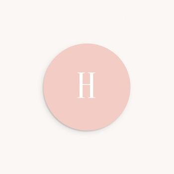 Sticker Enveloppe Naissance Lily-Rose Fleurs délicates, initiale rose pas cher